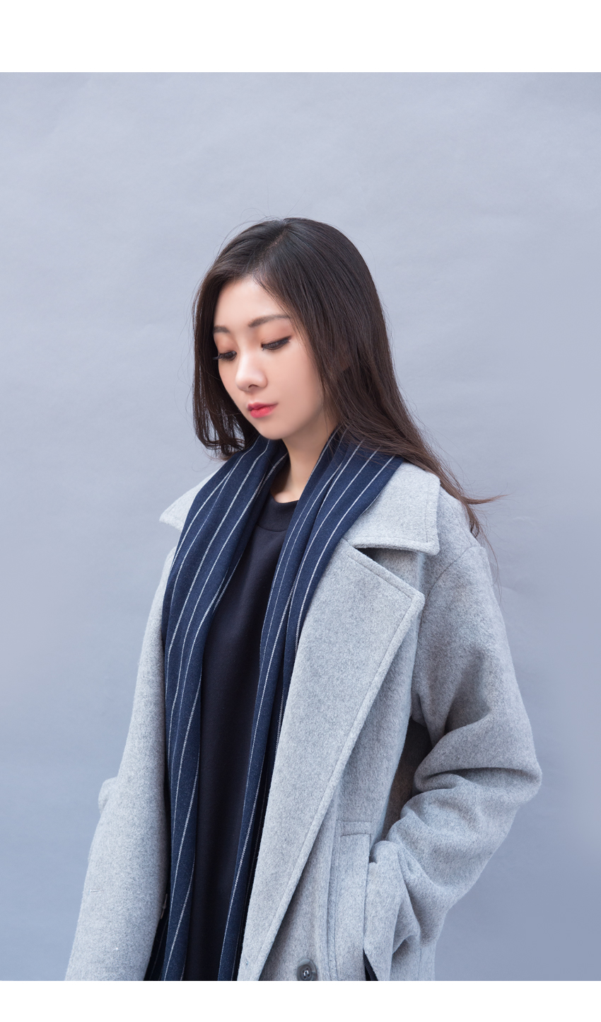 Wide Lapel Loose Fit Coat|